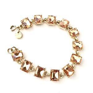LOFT peach 🍑 colored glass baguette bracelet 🍑